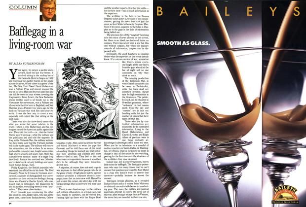 Article Preview: Bafflegag in a living-room war, February 1991 | Maclean's