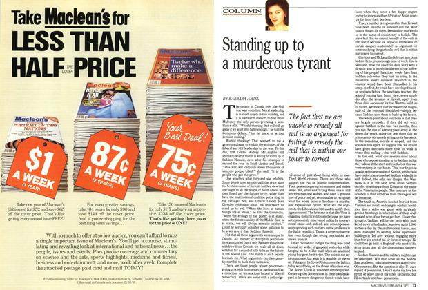 Article Preview: Standing up to a murderous tyrant, February 1991 | Maclean's