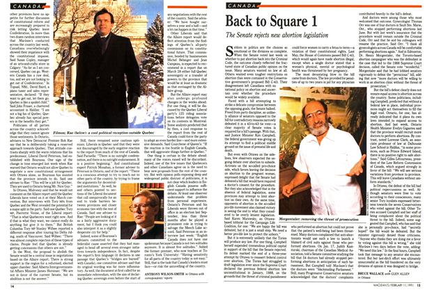 Article Preview: Back to Square 1, FEBRUARY  1991 | Maclean's