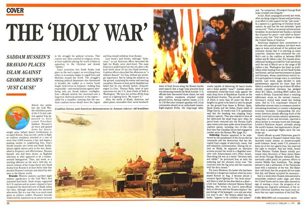 Article Preview: THE 'HOLY WAR', FEBRUARY  1991 | Maclean's