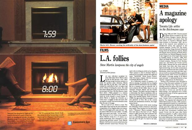 Article Preview: L.A. follies, FEBRUARY  1991 | Maclean's