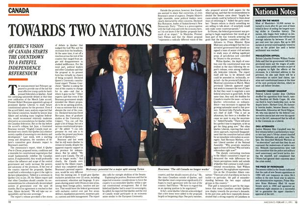 Article Preview: TOWARDS TWO NATIONS, FEBRUARY  1991 | Maclean's