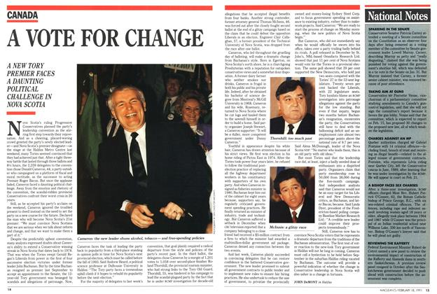 Article Preview: A VOTE FOR CHANGE, February 1991 | Maclean's