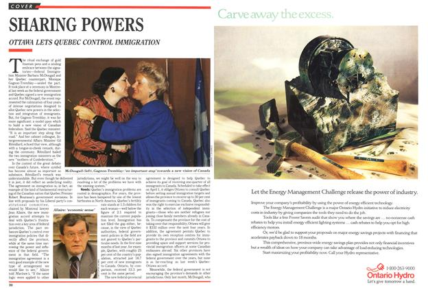 Article Preview: SHARING POWERS, February 1991 | Maclean's
