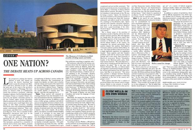 Article Preview: ONE NATION?, February 1991   Maclean's
