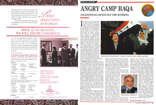 Article Preview: ANGRY CAMP BAQA, February 1991 | Maclean's