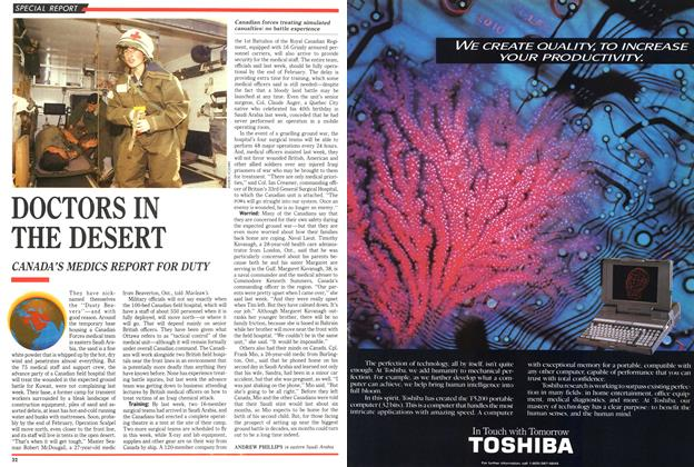 Article Preview: DOCTORS IN THE DESERT, February 1991 | Maclean's