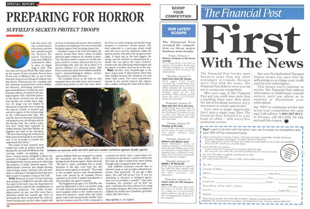 Article Preview: PREPARING FOR HORROR, February 1991 | Maclean's