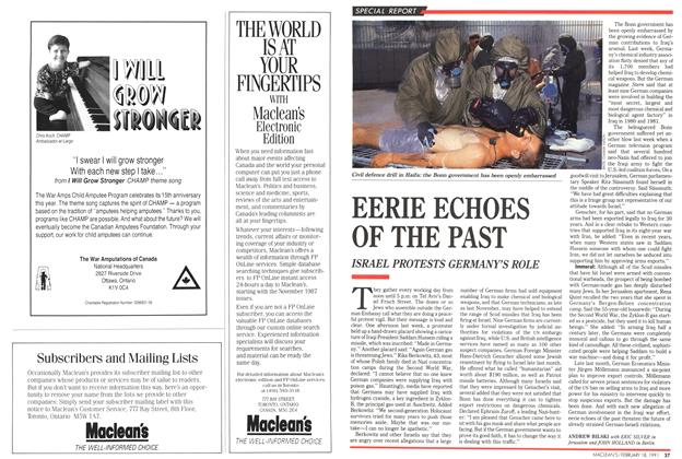 Article Preview: EERIE ECHOES OF THE PAST, February 1991 | Maclean's