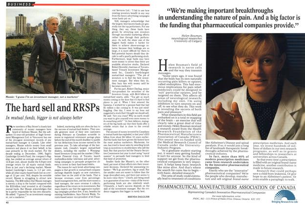 Article Preview: The hard sell and RRSPs, February 1991 | Maclean's