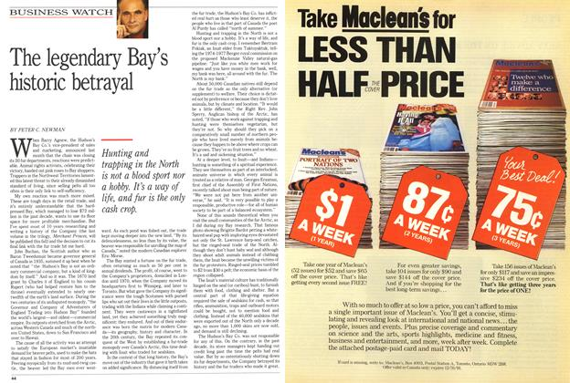 Article Preview: The legendary Bay's historic betrayal, February 1991 | Maclean's