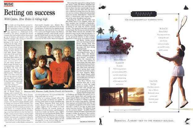 Article Preview: Betting on success, February 1991 | Maclean's