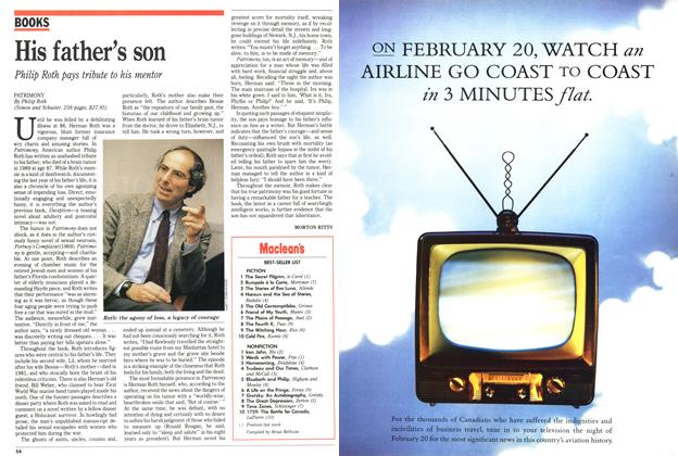 Article Preview: His father's son, February 1991 | Maclean's