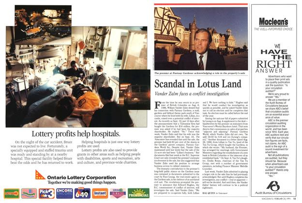 Article Preview: Scandal in Lotus Land, February 1991 | Maclean's