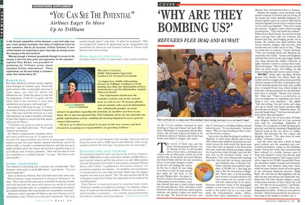 Article Preview: 'WHY ARE THEY BOMBING US?', February 1991 | Maclean's