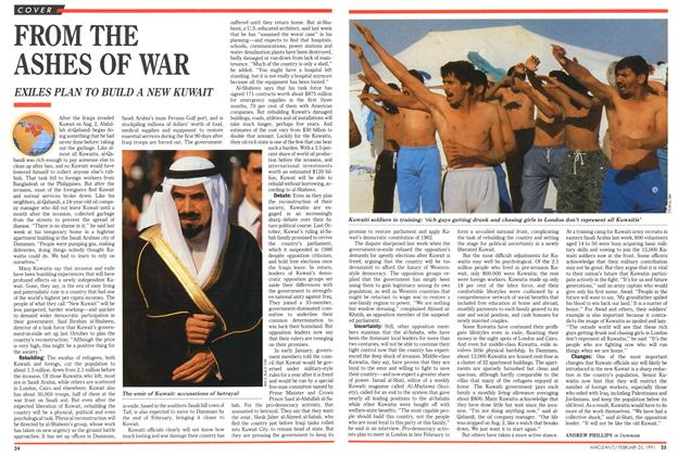 Article Preview: FROM THE ASHES OF WAR, February 1991 | Maclean's