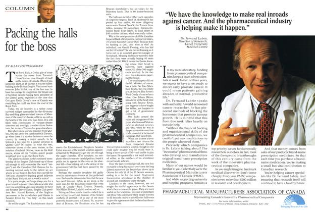 Article Preview: Packing the halls for the boss, February 1991 | Maclean's