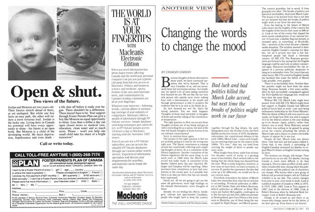 Article Preview: Changing the words to change the mood, February 1991 | Maclean's