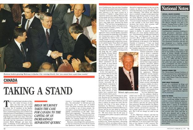 Article Preview: TAKING A STAND, February 1991 | Maclean's