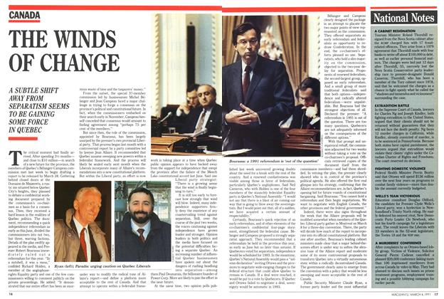 Article Preview: National Notes, March 1991 | Maclean's