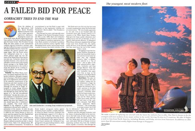Article Preview: A FAILED BID FOR PEACE, March 1991 | Maclean's