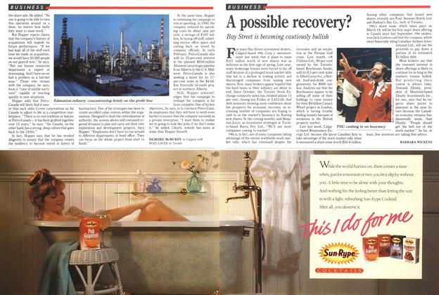 Article Preview: A possible recovery?, March 1991 | Maclean's
