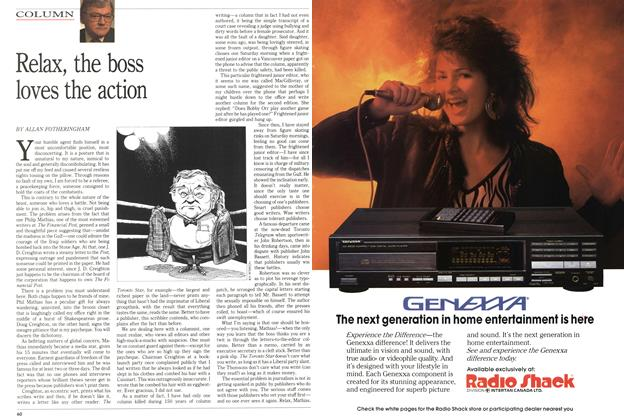 Article Preview: Relax, the boss loves the action, March 1991 | Maclean's