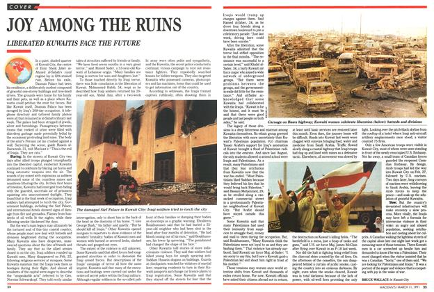 Article Preview: JOY AMONG THE RUINS, March 1991 | Maclean's