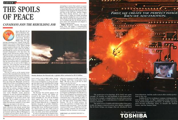 Article Preview: THE SPOILS OF PEACE, March 1991 | Maclean's