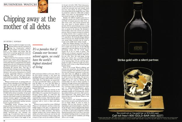 Article Preview: Chipping away at the mother of all debts, March 1991 | Maclean's