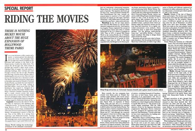 Article Preview: RIDING THE MOVIES, March 1991 | Maclean's