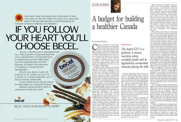 Article Preview: A budget for building a healthier Canada, March 1991 | Maclean's