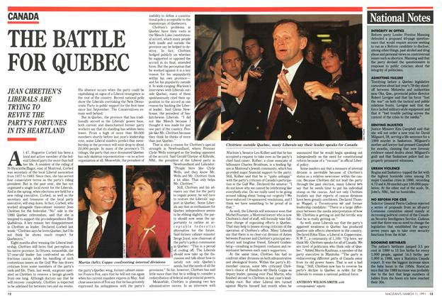 Article Preview: THE BATTLE FOR QUEBEC, March 1991 | Maclean's