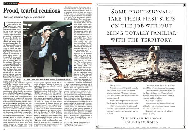 Article Preview: Proud, tearful reunions, March 1991 | Maclean's
