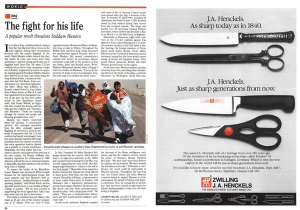 Article Preview: The fight for his life, March 1991 | Maclean's