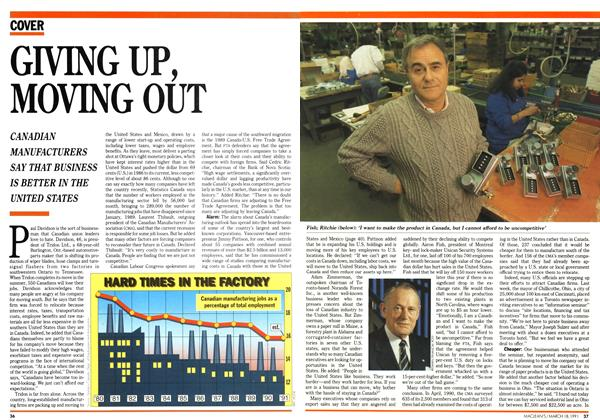 Article Preview: GIVING UP, MOVING OUT, March 1991 | Maclean's