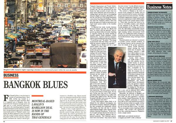 Article Preview: BANGKOK BLUES, March 1991 | Maclean's