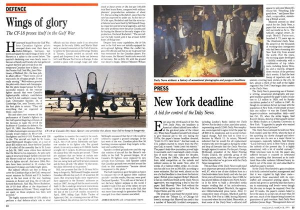 Article Preview: New York deadline, March 1991 | Maclean's