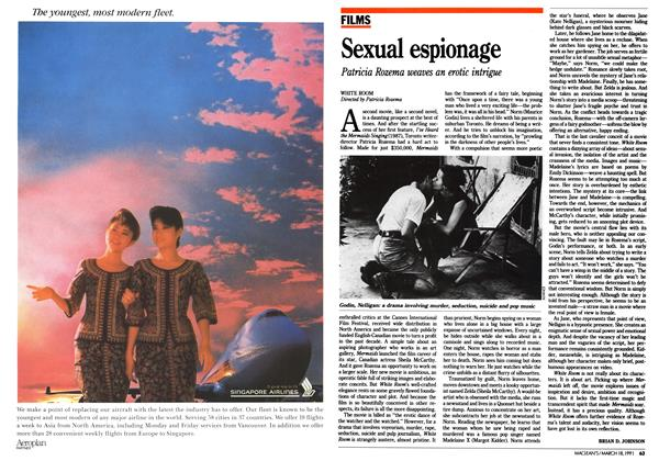 Article Preview: Sexual espionage, March 1991 | Maclean's