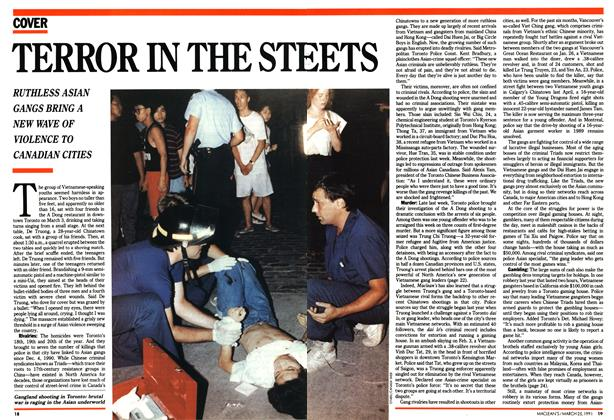 Article Preview: TERROR IN THE STREET, March 1991 | Maclean's