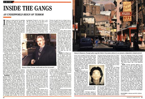 Article Preview: INSIDE THE GANGS, March 1991 | Maclean's