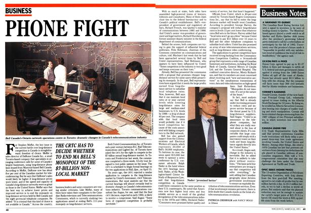Article Preview: PHONE FIGHT, March 1991 | Maclean's
