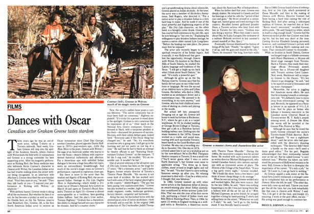 Article Preview: Dances with Oscar, March 1991 | Maclean's