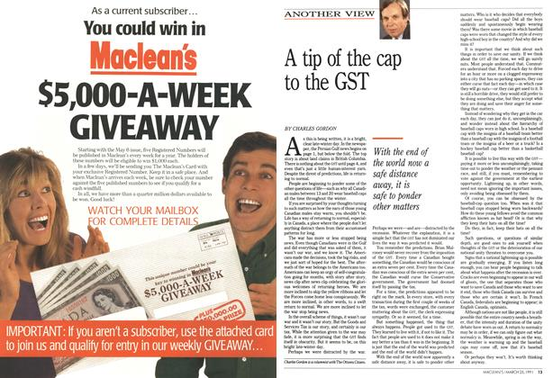 Article Preview: A tip of the cap to the GST, March 1991 | Maclean's