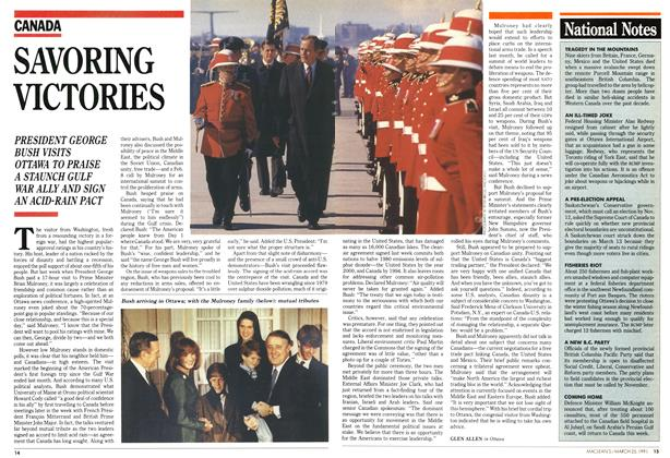 Article Preview: SAVORING VICTORIES, March 1991 | Maclean's