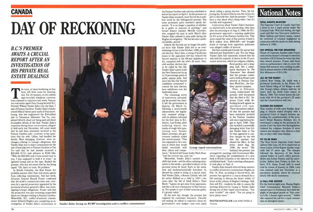Article Preview: DAY OF RECKONING, April 1991 | Maclean's