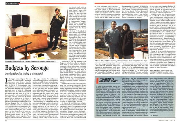 Article Preview: Budgets by Scrooge, April 1991 | Maclean's