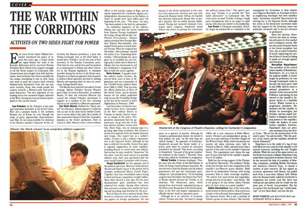 Article Preview: THE WAR WITHIN THE CORRIDORS, April 1991 | Maclean's