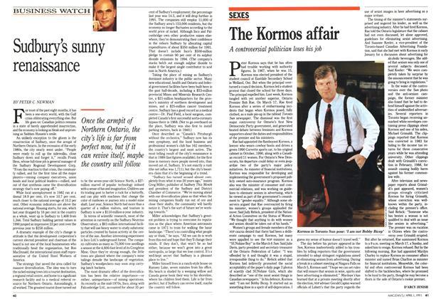 Article Preview: Sudbury's sunny renaissance, April 1991 | Maclean's