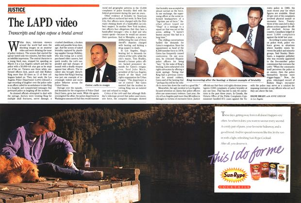 Article Preview: The LAPD video, April 1991 | Maclean's